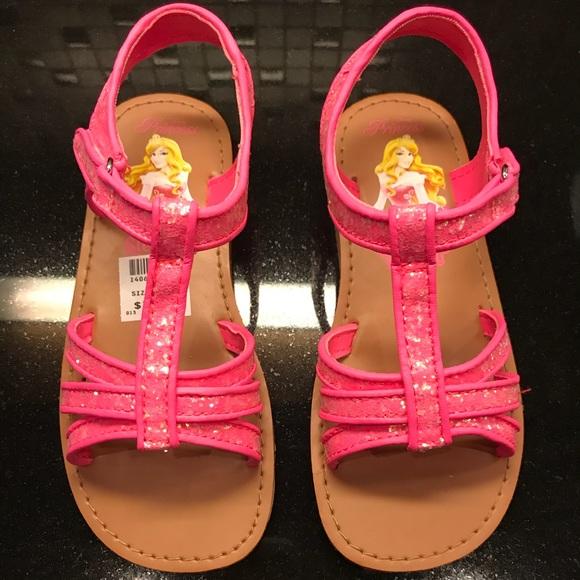 8560eece9204 Disney princess pink Glitter sandals. NWT